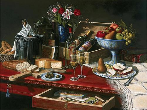 natyurmort-vinograd-vino-stol