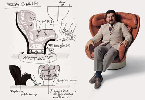 Джо Коломбо в кресле