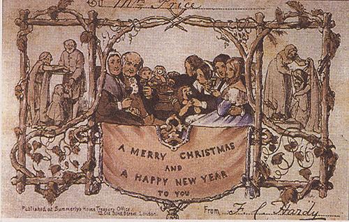 Почтовая открытка merry christmas
