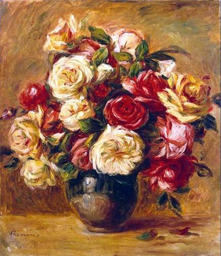 пьер огюст ренуар букет роз