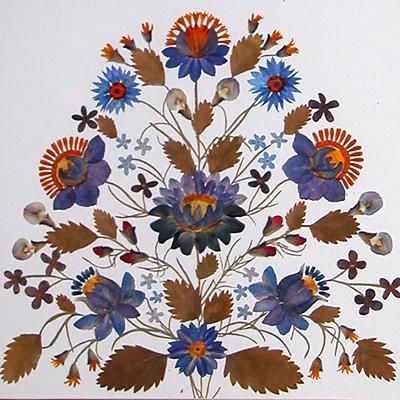 украшаем стены растениями миниатюра